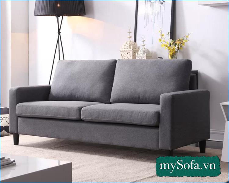 ghế sofa phòng ngủ chất liệu nỉ thường được ưu tiện chọn.