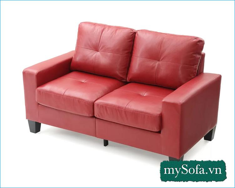 Sofa phòng ngủ chất liệu da