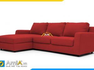 Hình ảnh sofa đẹp bọc vải nỉ màu đỏ. Kê phòng khách gia đình hay văn phòng công ty cũng đều rất hợp.